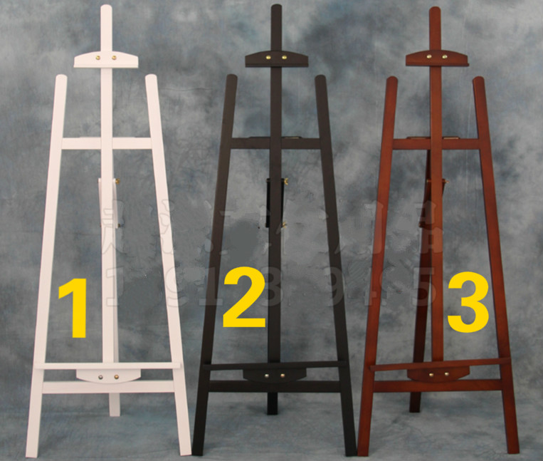 1.45m wooden pine oil painting easel sketch display board exhibition stand wooden painting cavalete sketch box 3colors optional