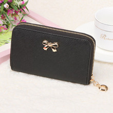 Wallet Women Purse Luxury Brand Korean Style Cute Bowknot Purse Solid Wearable Short High Quality Handbag bolsa