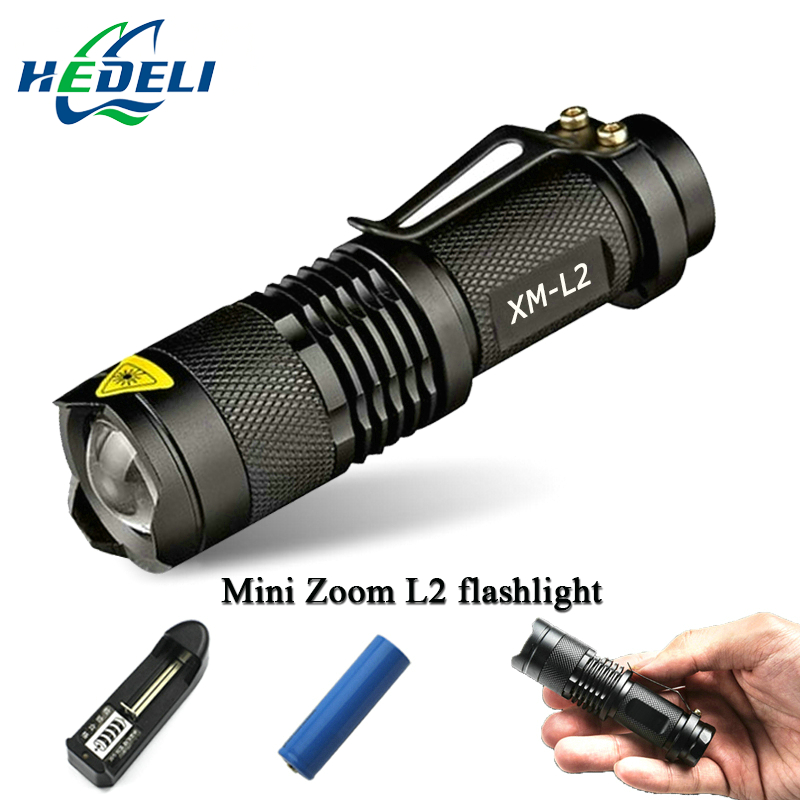 Mini CREE XM-L2 Led Flashlight waterproof 3800 telescoping Lumens lanterna Torch Use 18650 rechargeable battery Tactical nitecore mh20 with 3200mah battery 1000 lumens cree xm l2 u2 led rechargeable mini flashlight waterproof led torch free shipping