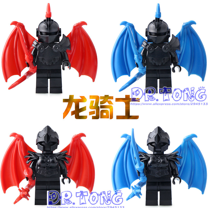 DR.Tong Single Sale Medieval Castle Knights The Hobbits The Lord of the Rings Figures with Armor Weapon Building Blocks Toys single sale myth unicorn toys lord of the rings hobbit horse nazgul with robe bricks building blocks children gift toys x0158