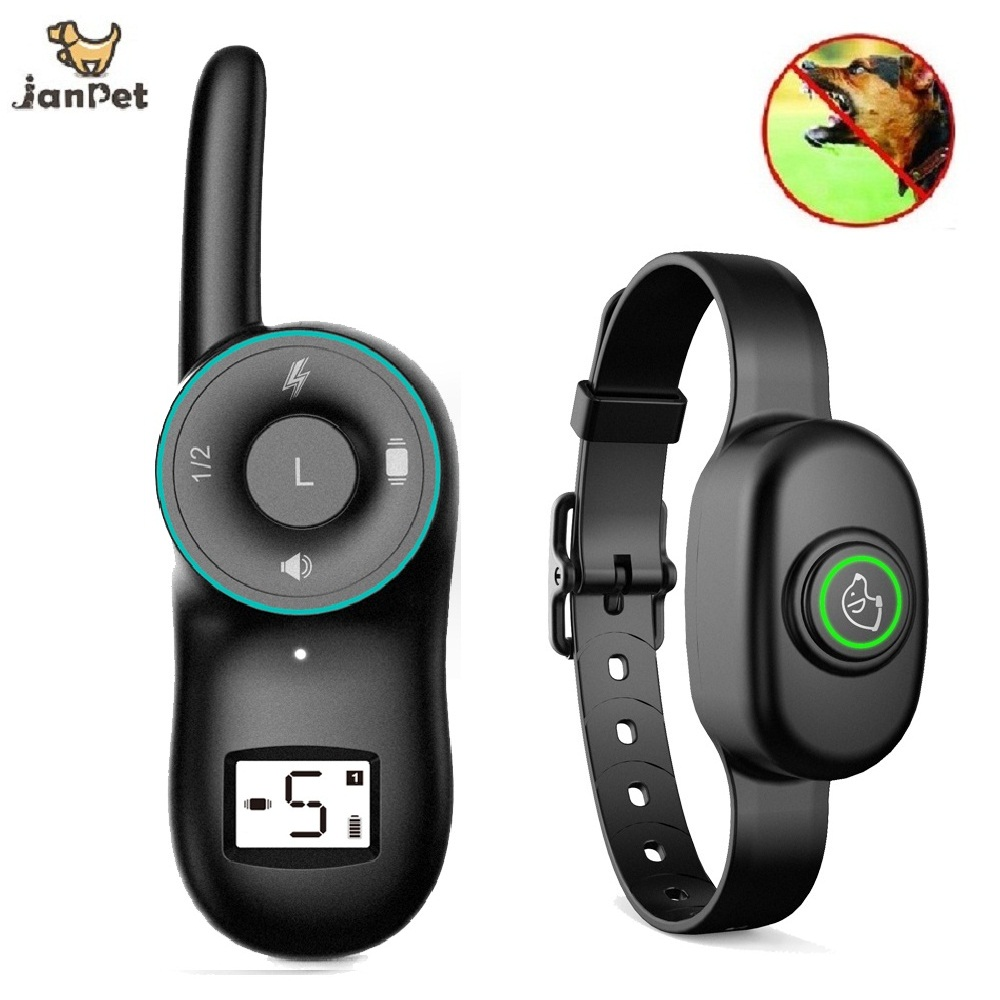 JanPet Dog Training Collar Electric Shock Collar For Dogs IP7 Diving Waterproof Remote Control Dog Device Charging LCD Display dog care training collar