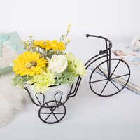 Simulation Plant Soap Fragrance Home Decor Miniature Metal Tricycle Art Pot Culture Microlandschaft European Flower Pot Craft