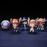 2018 new one piece Luffy figurka Tony Tony Chopper cos Sabo Buggy Ace pcv figurka doll gift collection model zabawki