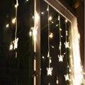borboleta 3.5m 96, levou corda cortina luzes 220v jardim natal ano novo lâmpadas luzes pingente festa de casamento frete grátis