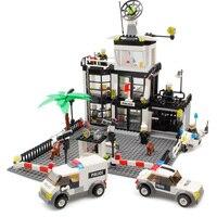 Police Station Building Blocks Toys Compatible Legos City Toys Police Figures Enlighten Bricks Blocks Toy For