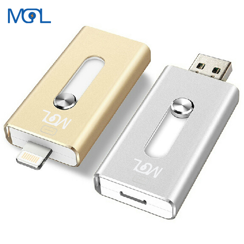 detailed look d91a6 b2617 US $9.28 |MGL Usb Flash Drive 32GB HD external storage memory stick Pen  drive For iphone 7 7 Plus 6 6s Plus 5S ipad Pendrive Disk for iOS-in USB  Flash ...