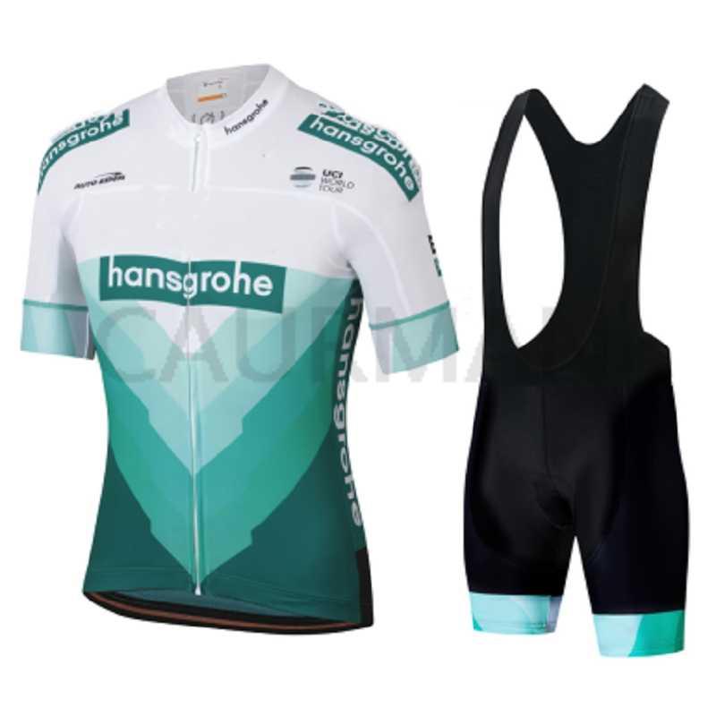 Nuevo NW 2019 Hansgrohe equipo Ciclismo jersey y pantalones cortos conjunto transpirable verano Tops camisa Ropa Ciclismo hombres Maillot Culotte desgaste