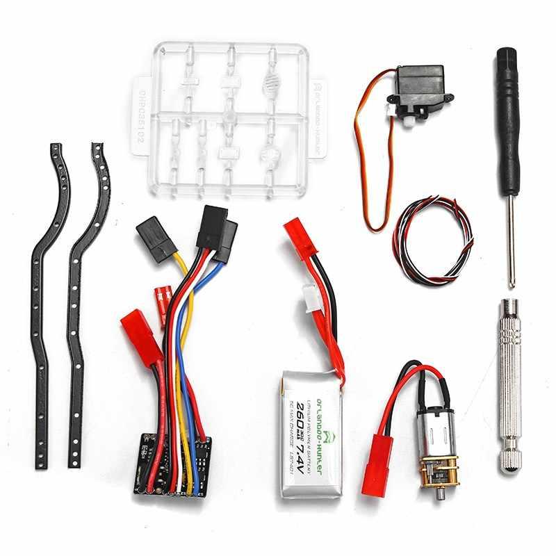 Orlandoo OH35A01 1:35 2,2G sobre orugas Kit de Motor ESC Servo batería Combo RC coche KIT DIY Asamblea RC juguete los niños Intelliengence