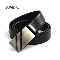 SUMEIKE 2016 Newest Designer Belts Men Leather Automatic Buckle Ceinture Mens Belts Luxury High Quality