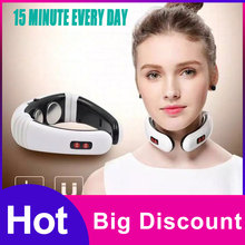 Electric Pulse Back Neck Massager Cervical Vertebra Instrument Acupuncture Magnetic Therapy Pillow Treatment