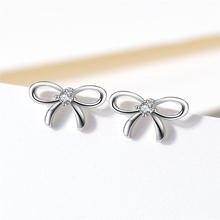 S925 Tremella nail bowknot charming ear suitable for single wear and multi-wear Length 9*width 6*height 1, needle length 10