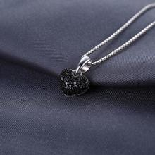 Natural Black Spinel Heart Choker Pendant Jewelry