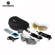 RockBros Polarized Cycling Sun lasses Outdoor Sports Bicycle lasses Bike Sunglasses TR90 Goggles Eyewear 5 Len 4 colors