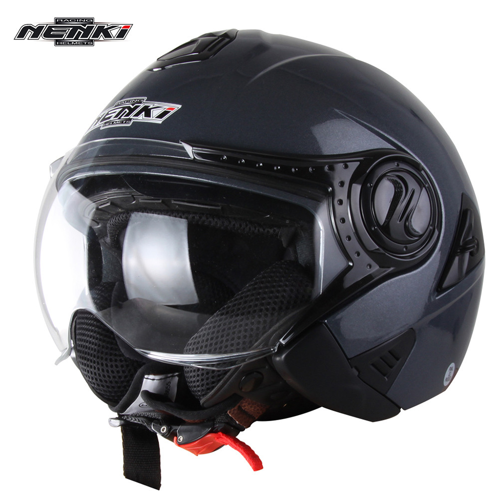 NENKI Pilot Open Face Motorcycle Helmet Retro Capacete da Motocicleta Cascos Moto Casque Kask Helm Vintage Chopper Jet Helmets gxt dot approved harley motorcycle helmet retro casco moto cascos dirt bike open face vintage downhill helmets for women and men