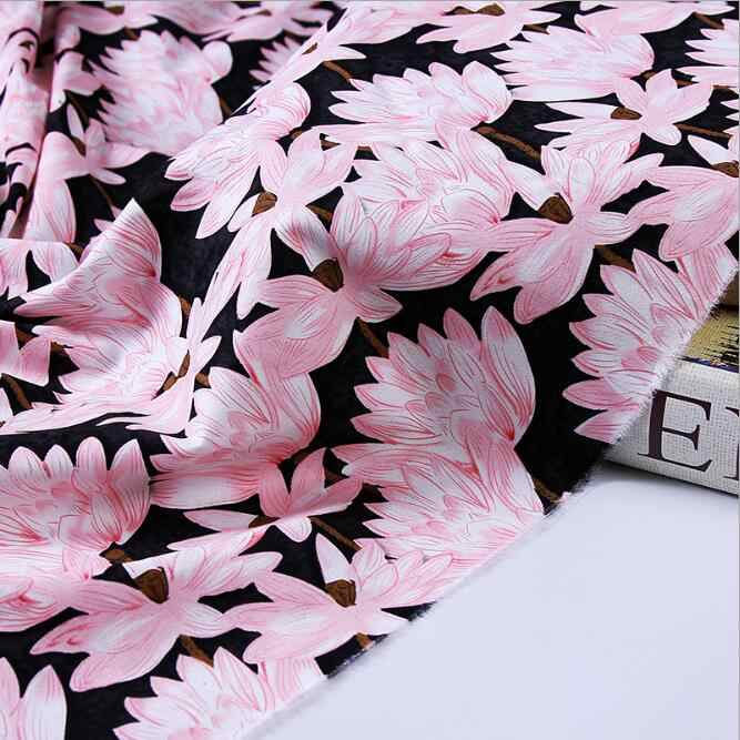 100% algodão acetinado folhas de lótus Bege estilo stretch tecido para costura DIY vestido de noiva roupas femininas estofos