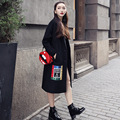 thicken wool female coat fleece long outerwear women oversize coat winter Splicing trend coats Fashion Korean Style