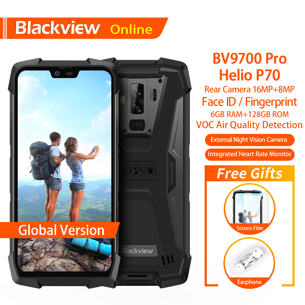 Blackview BV9700 Pro Waterproof Outdoor Smartphone Helio P70 6GB+128GB  Android 9 0 Night Vision Camera NFC Rugged Mobile Phone