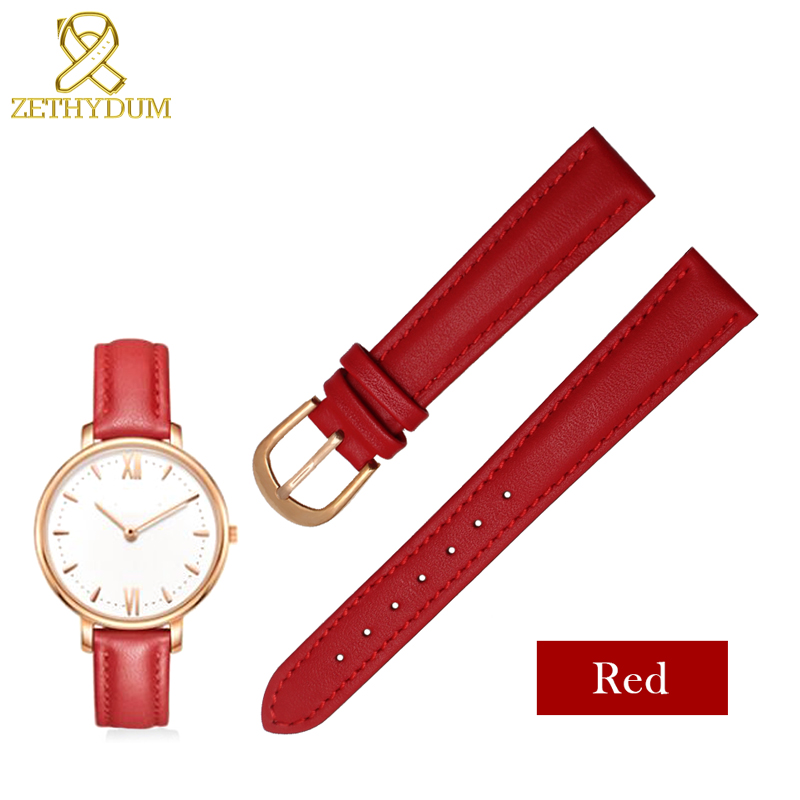 Genuine Leather Watch Strap 12 14 16 18 20mm Wrap Leather Bracelet Womans Watch Band Straps For Wrist Watches Genuine Watchband