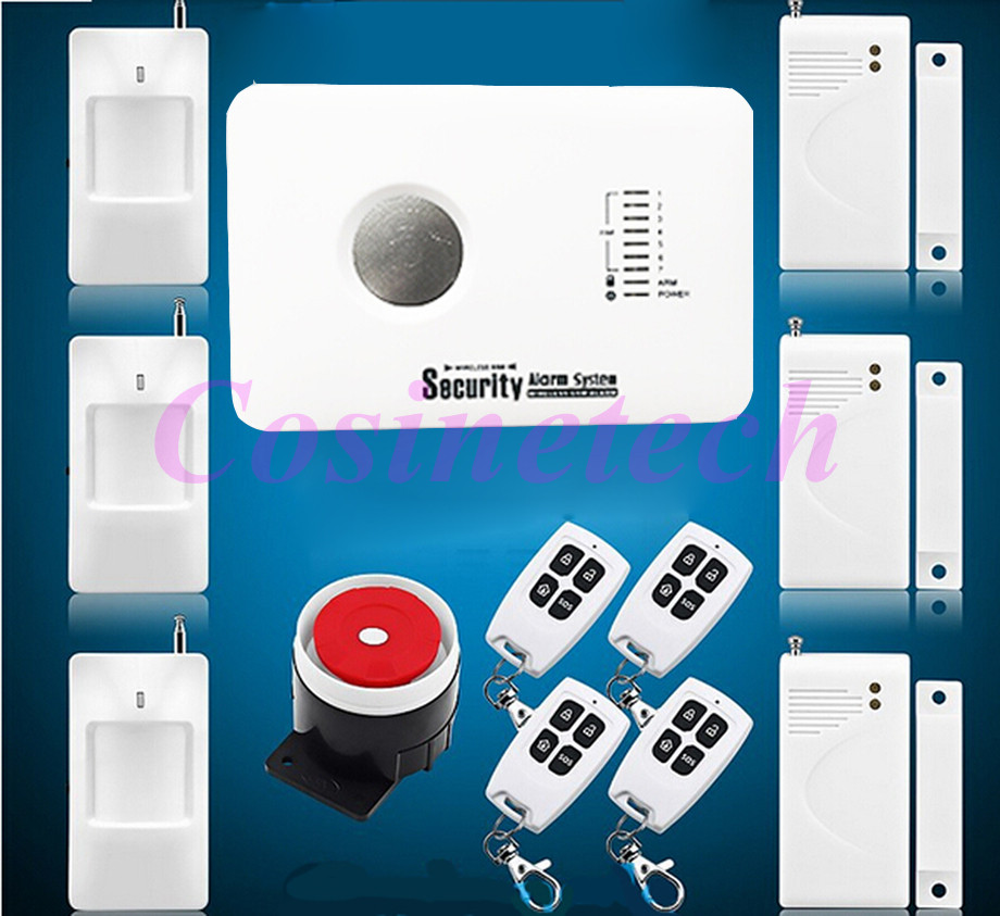 New Wireless/wired GSM Voice Home Security Burglar Android IOS Alarm System Auto Dialing Dialer SMS Call Remote control setting 2 receivers 60 buzzers wireless restaurant buzzer caller table call calling button waiter pager system