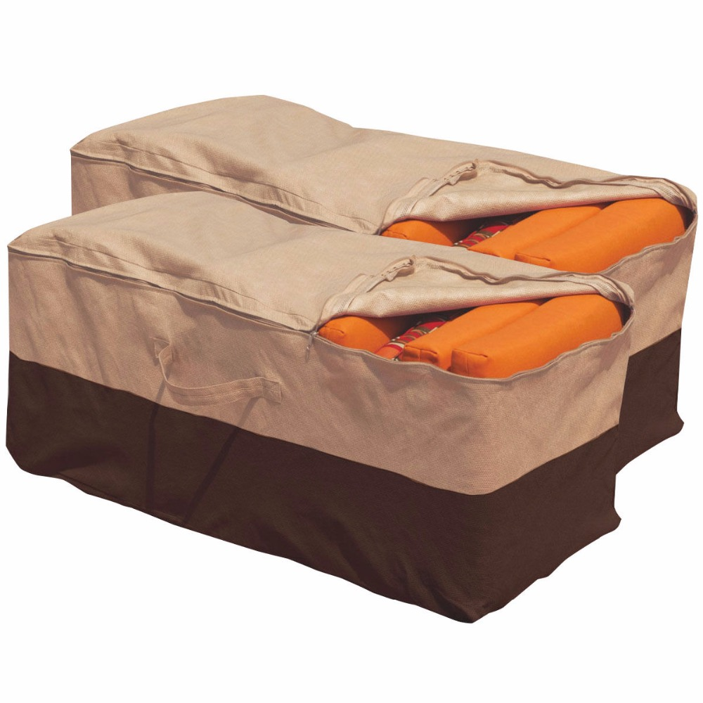 2PCS Outdoor Cushion Storage Bag Patio Furniture Chaise Organizer Protect  Cover 2*HW51770