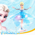 Fever Princess Flying Fairy Elsa Toys With Lights Up Infrared Induction Doll for Kids Electronic Interactive Toys Anime