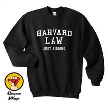 Harvard Law Just Kidding Funny Cool Tumblr Top Crewneck Sweatshirt Unisex More Colors XS - 2XL