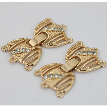 Wholesale Rhinestone Tips Strong Fold Over Clasps Jewelry Findings Clasps For Bracelet Necklace Making 19 Styles Mix JC024