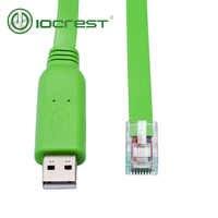 IOCREST USB Rs232 Rj45 Console câble pour routeur Cisco nouvelle vente directe Stock câble série 6FT 1.8m longueur réseau Route