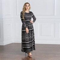 TUHAO 2018 Autumn Winter Plus Size 6XL 7XL Vintage Dress Maxi Woman Long High Waist Elegant Femme Robe Women's Dresses CM199