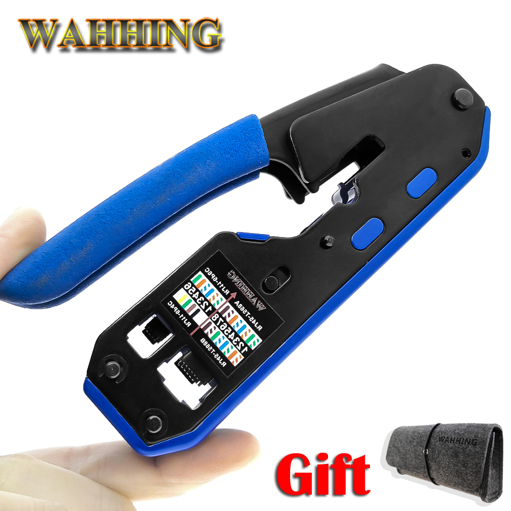 RJ45 Tool Network Crimper Crimping Tools Stripper Cuting Ethernet Cable Fit RJ45 Cat6 Cat5e Cat5 STP Plugs RJ45 Connector Cables