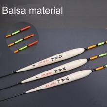 Bobber wędkarski zestaw Float dla wędka rzeka boja pływająca Balsa materiał pływak sprzęt wędkarski akcesoria