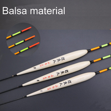 Boya Juego de corcho de pesca Flotador para pescar boya flotante de Río, Material Balsa, aparejos de pesca flotante, accesorios
