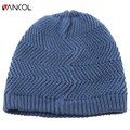 Brand Blue Unisex Womens Fall Ribbed Outdoor Beanie Water Ripple Polar Fleece Cap Winter Warm Knit Vogue Sports Beret Men