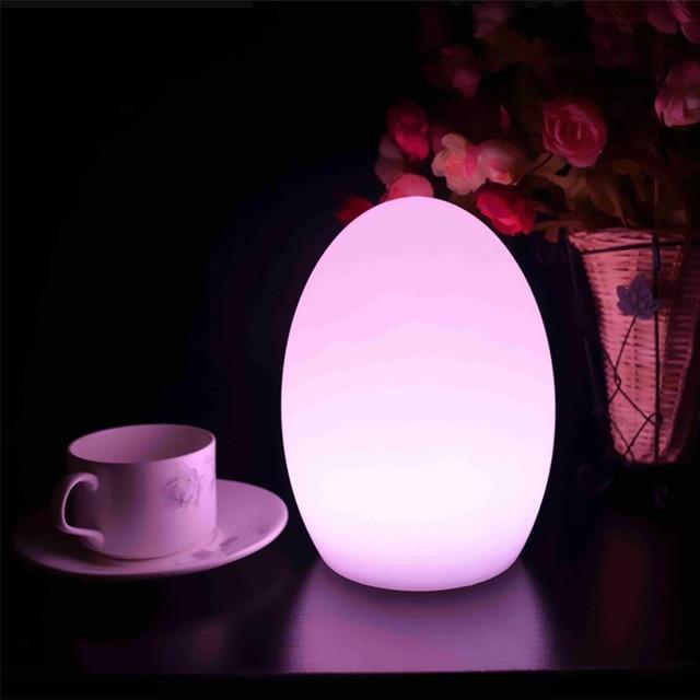 Uovo Luce di Notte RGBW 16 Colori Ricaricabile IR Remote Ideale per ...