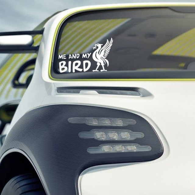 car styling me and my bird liver bird liverpool car sticker wall