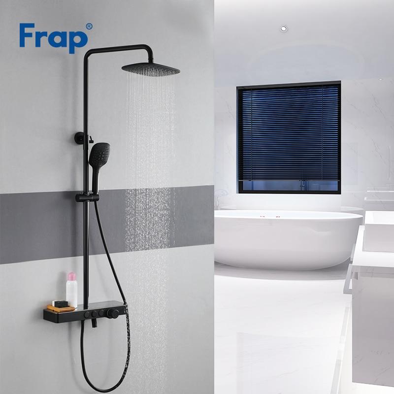 Frap Shower Faucets high quality black bathroom shower set faucet mixer tap for bath shower mixer