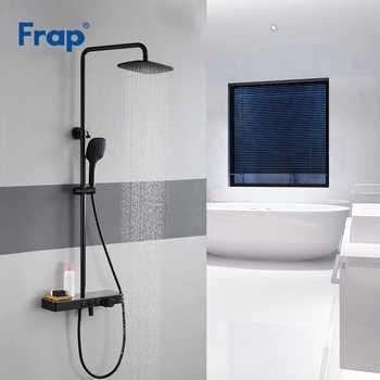 Frap Shower Faucets high quality black bathroom shower set faucet mixer tap for bath shower mixer bath faucet tap shower system - DISCOUNT ITEM  50% OFF All Category