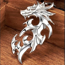 Dragon Pendant Silver Necklace