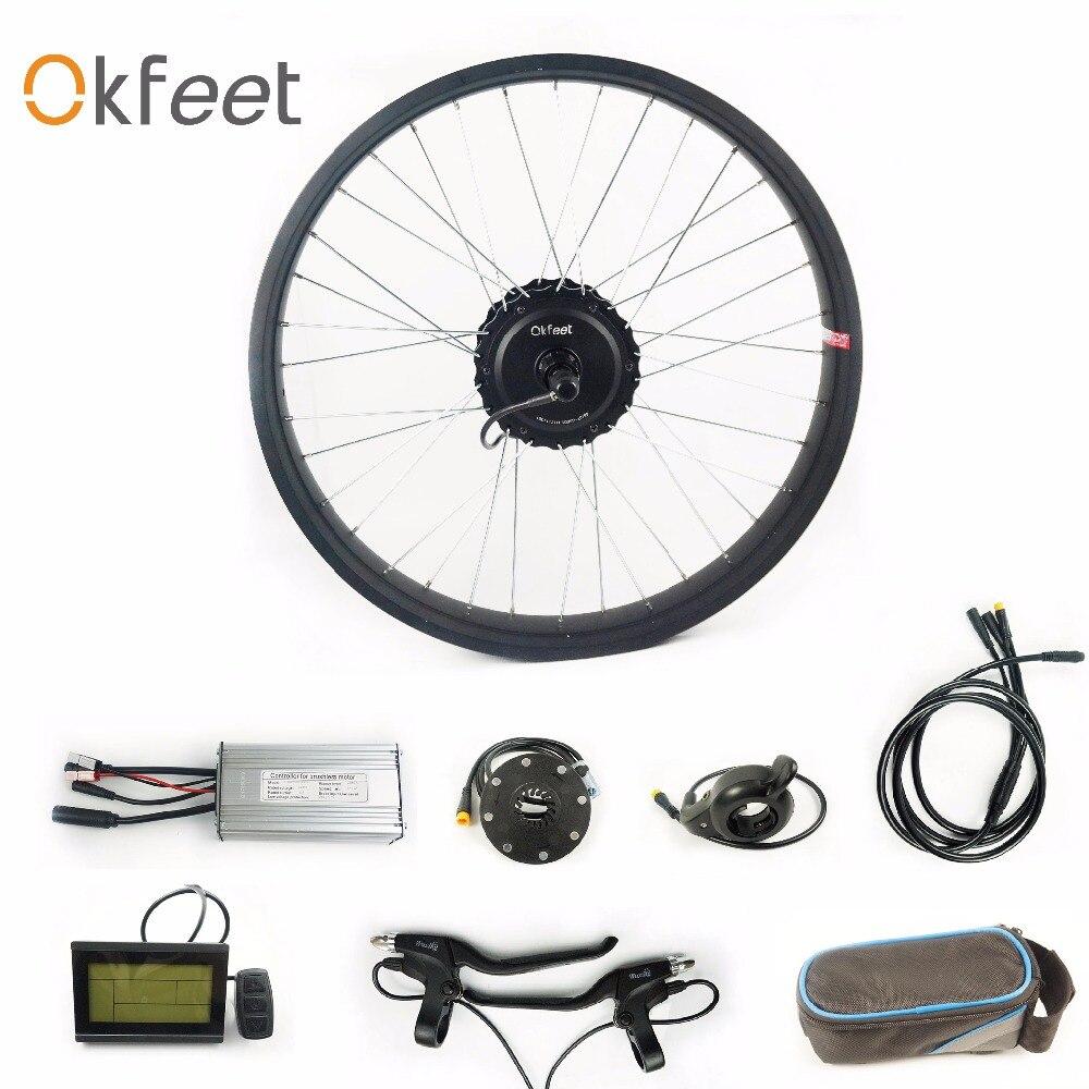 Fat Tire Electric Motor Kit: Okfeet 48V 500W Snow Fat Tire Bike Electric Conversion Kit