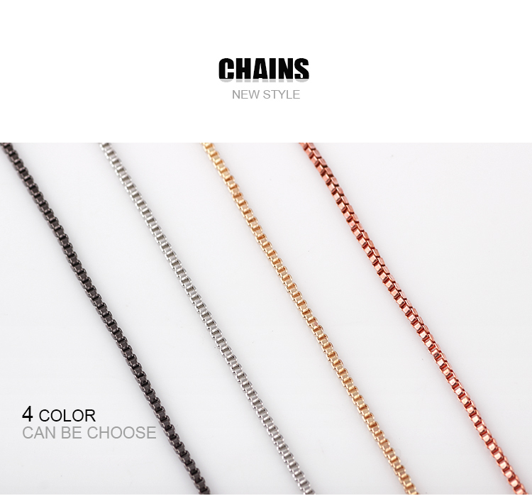 10pcs/lot Free Shipping Top Quality Silver Box Chain Necklace With Lobster Clasps Jewelry Necklack For Women ...