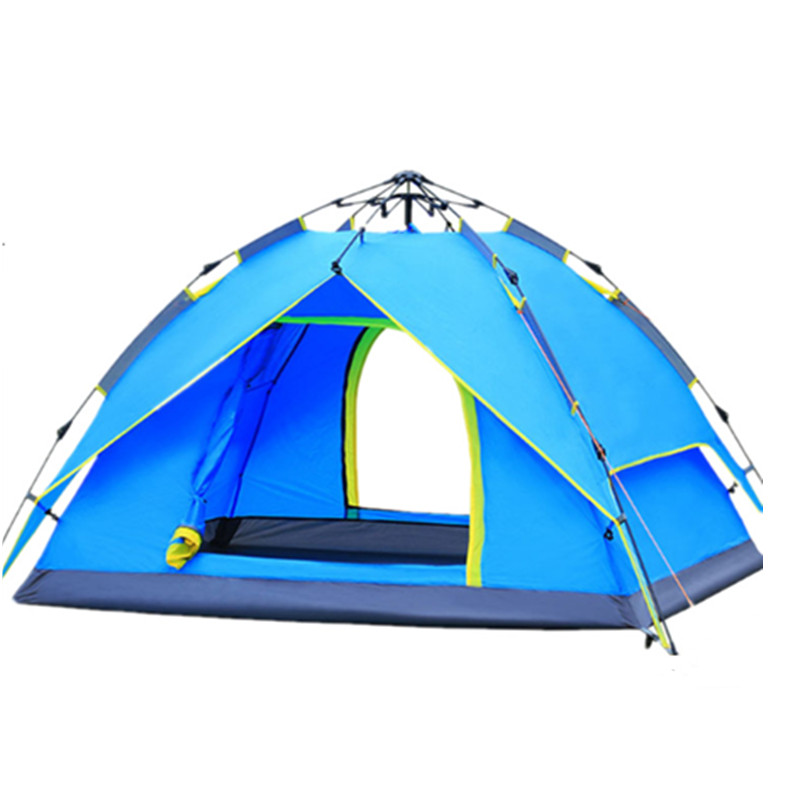 3 4 Person Couple Camping Tent Double layer Waterproof Quick Automatic Pop Up Tent Family Party