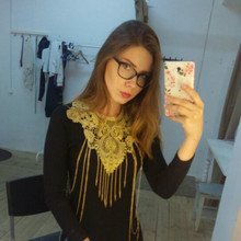 Gold Gothic Lace Big