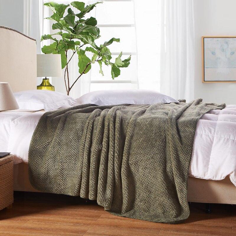 ФОТО 150*200cm 180*200cm 200*230cm Flano Flannel fleece air sofa bedding solid color Blanket Throw travel blanket on  bed