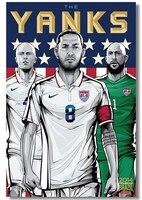 Free Shipping! Popular Wallpaper! 2015 New World Cup Brazil Fashion Retro Wall Sticker, Home Decor Poster,Unframed K220