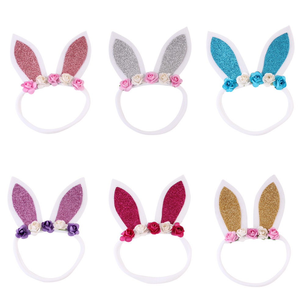 Girl's Hair Accessories 2019 Latest Design Korea Ribbon Bunny Hair Bands Rabbit Ears Hairband Flower Crown Headbands For Girls Hair Bows Hair Accessories