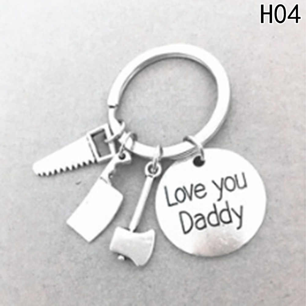 "1 PC ""אם אבא יכול לא לתקן זה לא אחד יכול"" יד כלים Keychain אבא מפתח טבעות מתנה עבור אבא אבות יום, אב מפתח שרשרת אביזרים"