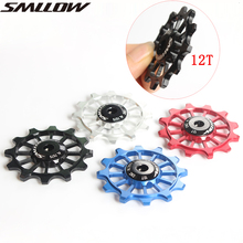New SMLLOW 1pcs 4 Color MTB Mountain Road Bikes Bicycles 12T Rear Derailleur Pulley Roller Idler Bearing Jockey Wheel Parts a290 8119 x625 fanuc f442 1 tension roller idler pulley od34mmx id14mm x t8mm dwc id awf wedm ls wire cutting machine parts