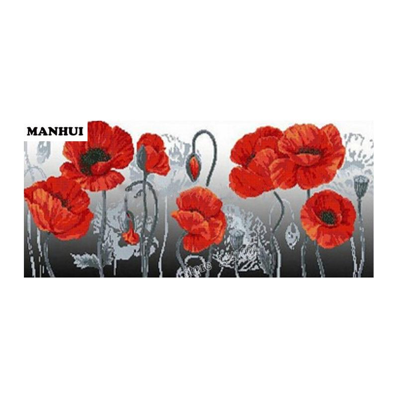 Haft robótki muliną pełne Kwadratowych dżetów diament malarstwo Red water lily flower diy diament malarstwo BSF056