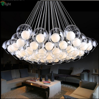 Bocci Design Classic Modern Led G4 Pendant Chandelier 3 Styles Double Glass Shades Fishing Cord Plated