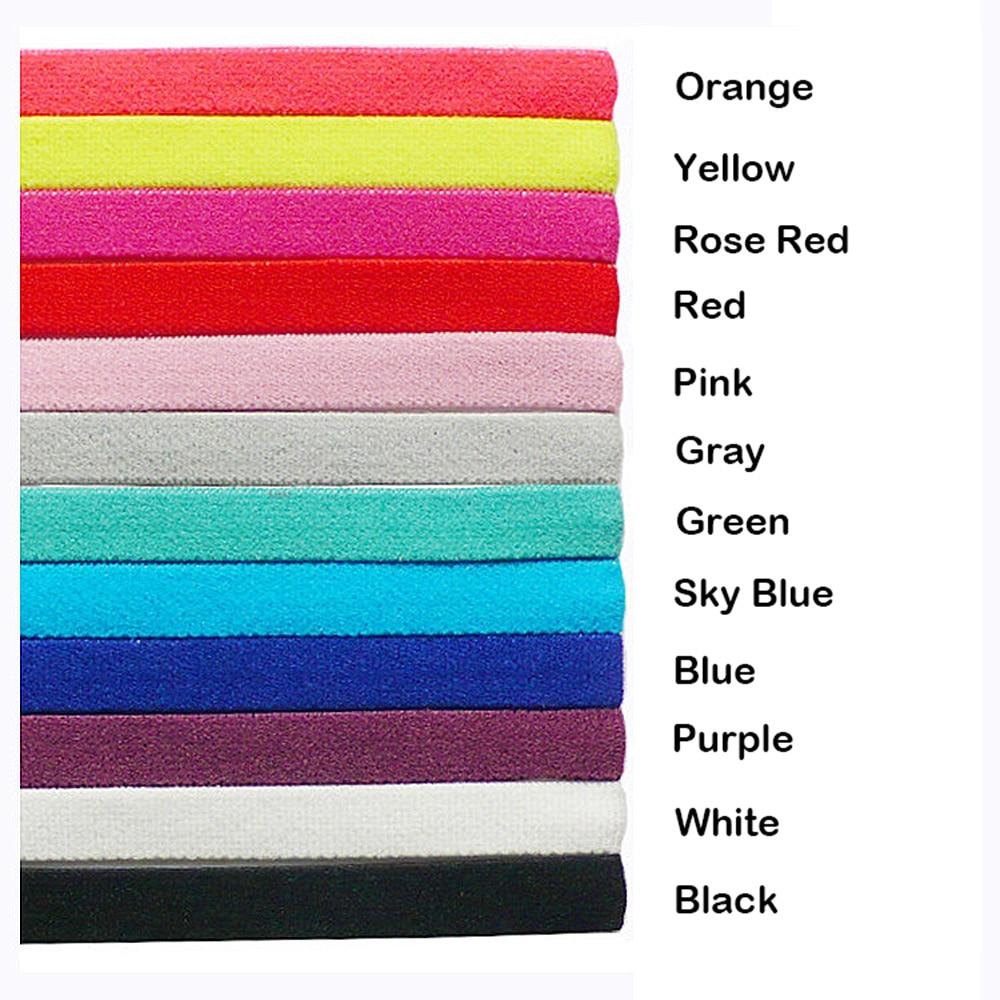 Thin Sport Headbands for Women and Men Non-slip Yoga Hair Band Elastic Sweatbands for Football,Basketball,Soccer,Tennis and Golf (9) -